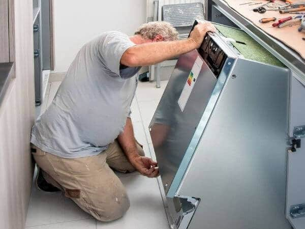 how to remove a dishwasher with pliers