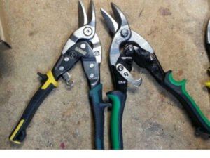 how to sharpen tin snips