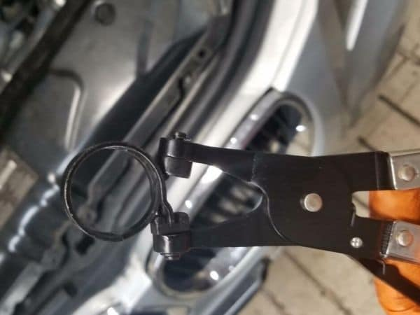 hose clamp removal pliers